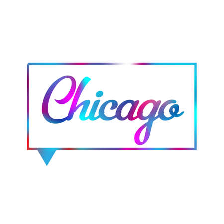 Chicago International Cities Vector for printing and t-shirt
