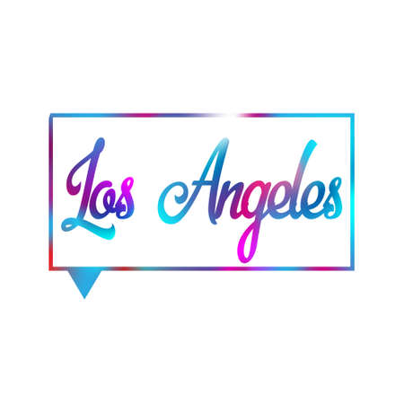 Conceptual hand drawn phrase Los Angeles. Lettering design for posters, t-shirts, cards, invitations, stickers, banners, advertisement. Vector.
