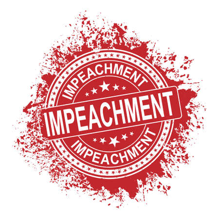 Impeachment. Stamp. Red grunge approved sign. Vector Illusztráció