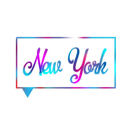 New York text Calligraphy Vintage Retro Lettering vector design. Typography 3D Poster Banner Card template. Illusztráció