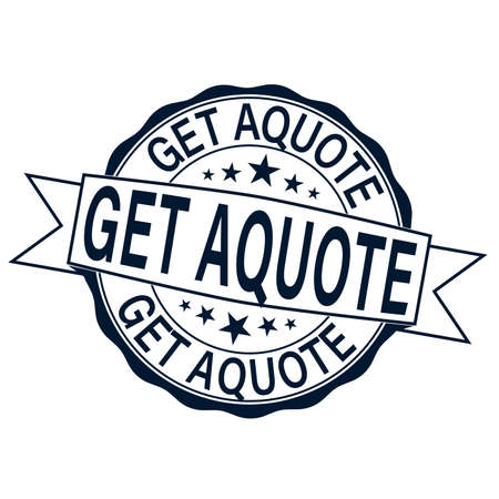 get a quote. stamp on a white background