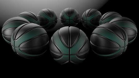 Basketball Design Background. 3D illustration. 3D rendering.