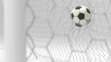 Soccer Ball with Particles. 3D illustration. 3D CG. High resolution. Фото со стока
