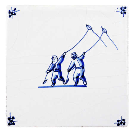 delft blue tile photo