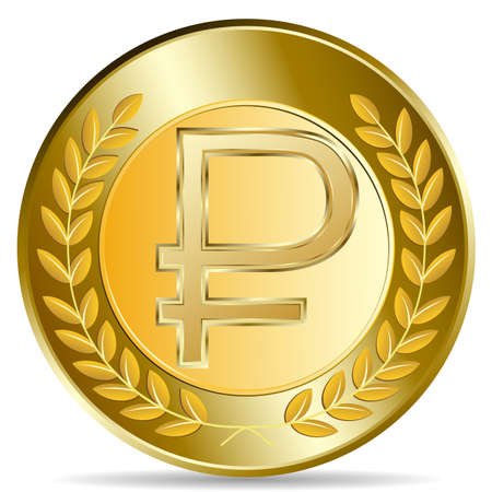 currency glitter: golden coin  Illustration