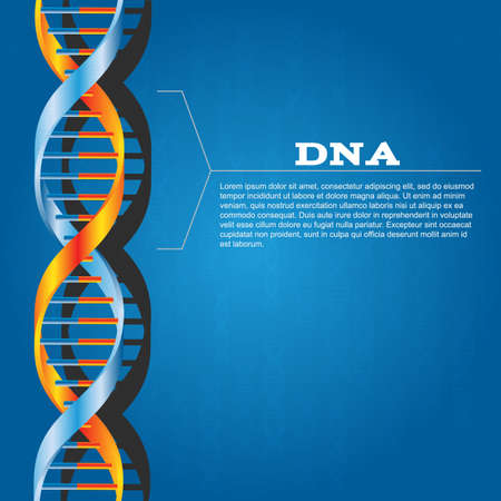 blue dna: Science dna structure abstract design background
