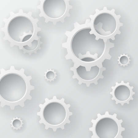 overlapping: Vector Abstract Background Overlapping cogwheel concept