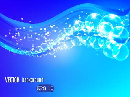 blue bubbles: Wave of bubbles. Vector background for your design Illustration