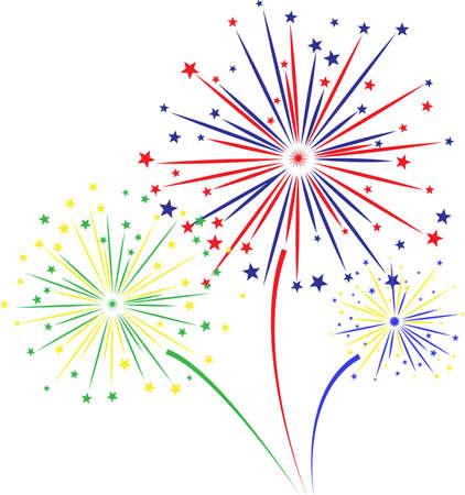 Firework design on white background. vector illustration, Illustration