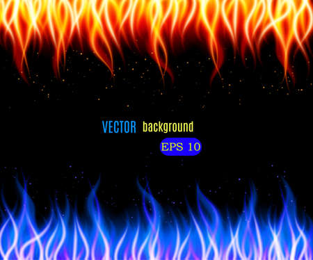 Burn flame fire vector background. Vector illustration Illustration