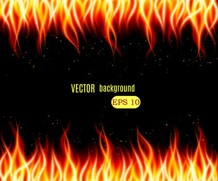 Burn flame fire vector background. Vector illustration Vectores