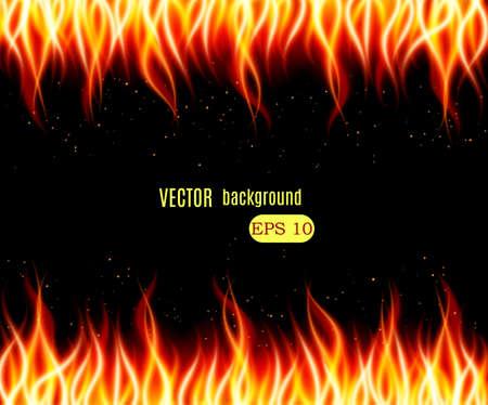 llamas de fuego: Burn llama vector de fondo fuego. Ilustración vectorial Vectores