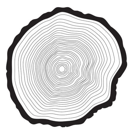 tree rings: Tree rings background. Annual tree. vector illustration,