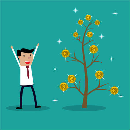 investment concept: Money plant. Money growth and investment concept.
