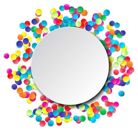 confetti: Colorful celebration background with confetti. Vector Illustration. Illustration