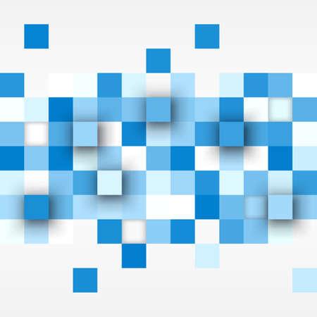 objetos cuadrados: Fondo del vector. Ilustración de la textura del extracto con los cuadrados. el diseño de patrones para la bandera, cartel, folleto, cubierta de la tarjeta postal, folleto. Vectores