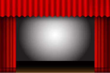 red curtain: red curtain frame. show cinema