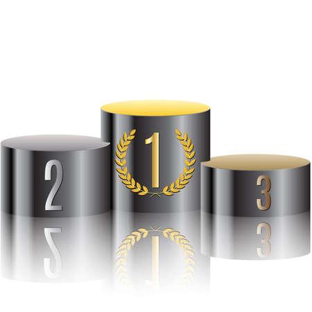 triunfador: Podium de los ganadores. Vector. Vectores