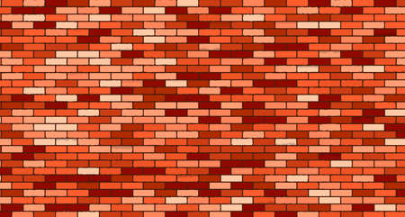 red brick: Red brick wall vector background