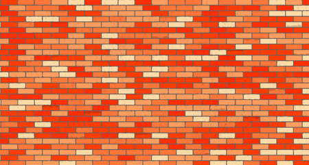 red brick wall: Red brick wall vector background with grunge