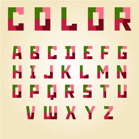old english letter alphabet: abstract color alphabet capital letters vector illustration