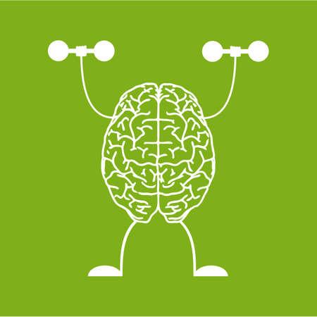 hardy: Train your brain. Creative concept