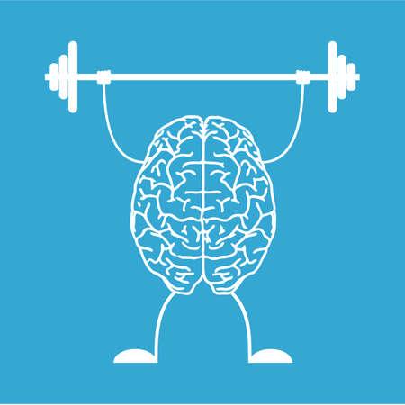 deportes caricatura: Entrena tu cerebro. Concepto creativo