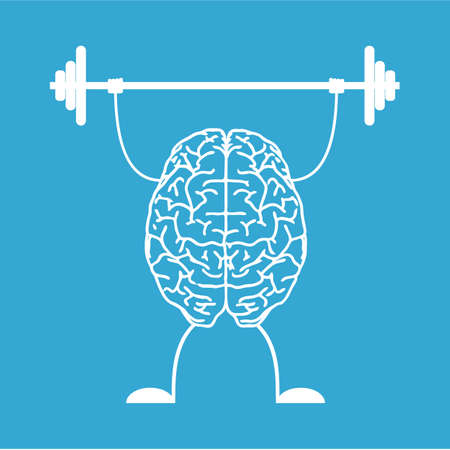 fitness workout: Train your brain. Creative concept