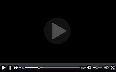 movie screen: Video player template for web, movie screen  vector illustration