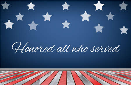 national hero: Veterans day background flag usa. Vector illustration