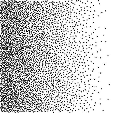cuadrado: Fondo incons�til de degradado con los puntos negros.
