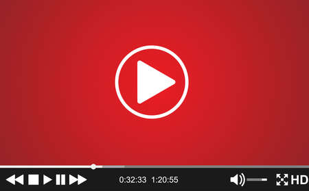 movie screen: Video player template for web, movie screen  vector illustration.