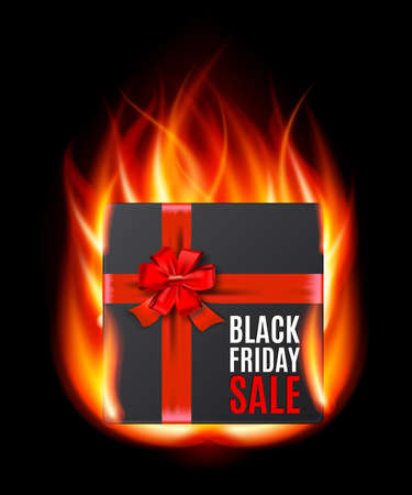 miserly: Black Friday Sale giftbox Illustration  Illustration