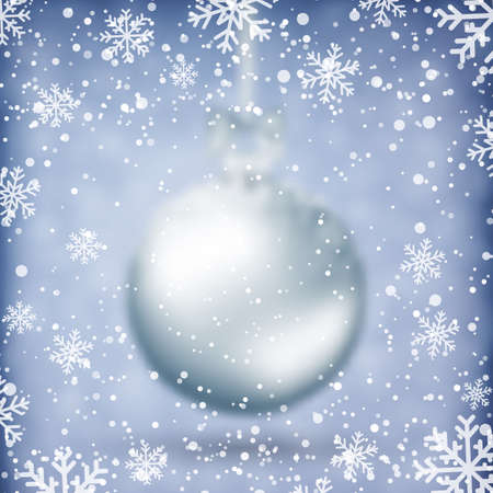 holiday: Blurred Christmas Ball. Xmas Decorations. Holiday Design for New Year Greeting Cards, Posters and Flyers. Vector. Illustration