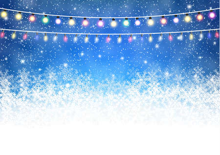 postal card: Christmas Winter Snow light background. Vector illustration. Christmas card,invitation,background,design template.  concept for greeting or postal card