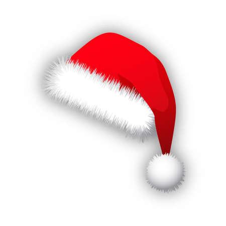 winter hat: Vector of red Santa Claus hat. Illustration