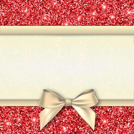 Einladung Dekorative Karte Vorlage Mit Bogen Und Rot Glänzenden ...