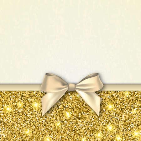 Einladung Dekorative Karte Vorlage Mit Bogen Und Gold Glänzenden ...