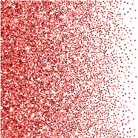 white party: red glitter background. red sparkles on white background. Creative invitation for party, holiday, wedding, birthday. Vector illustration. Glitter seamless texture. Trendy modern vector illustration