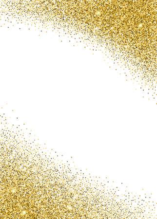 배너, 전단 템플릿, 골드 배경과 날짜, 생일 파티 또는 다른 초대를 저장합니다. 골드 반짝이 카드 디자인. 벡터 일러스트 레이 션 디자인 서식 파일입니다. 스톡 콘텐츠 - 50538116