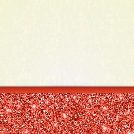 Einladung Dekorative Karte Vorlage Mit Roten Glänzenden Glitter ...