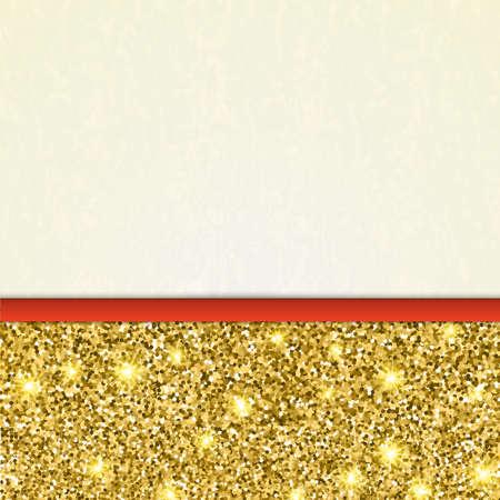 Einladung Dekorative Karte Vorlage Mit Gold Glänzenden Glitter. Gold ...