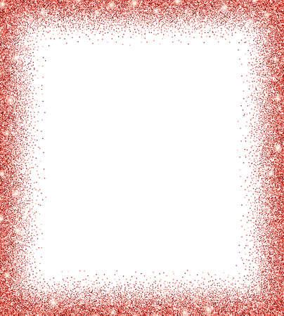 fond de paillettes rouges. paillettes rouges sur fond blanc. Invitation créative pour la fête, les vacances, le mariage, l'anniversaire. Illustration vectorielle Texture transparente de paillettes. Illustration de vecteur moderne branché