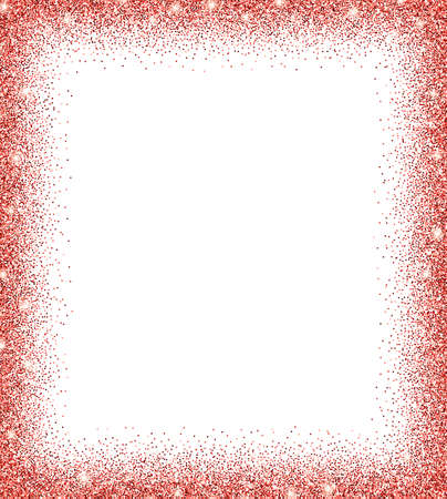 glowing: red glitter background. red sparkles on white background. Creative invitation for party, holiday, wedding, birthday. Vector illustration. Glitter seamless texture. Trendy modern vector illustration