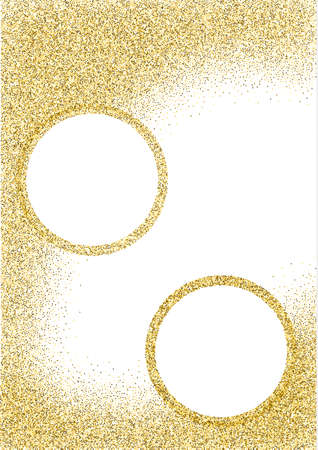 booklet design: Template for banner, flyer, save the date, invitation with gold background. Gold glitter card design. vector illustration. Booklet abstract design. poster, banner, placard, brochure cover, magazine Illustration