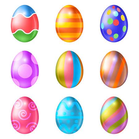 animal egg: Easter eggs vector icons . Easter eggs isolated vector. Easter eggs for Easter holidays design.  Easter eggs isolated on white background. Easter eggs