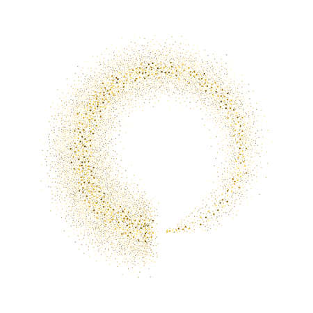 Vector gold glitter circle abstract background, golden sparkles on white background,  Gold glitter card design. vector illustration vip  design template. Vectores