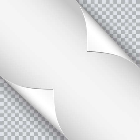 page curl: Page curl with shadow on blank sheet of paper.  Vector illustration for your design and business Illustration