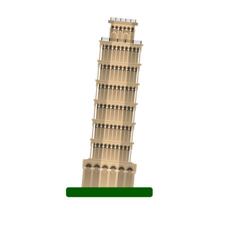 siena italy: Pisa Leaning tower vector illustration. isolated on white background