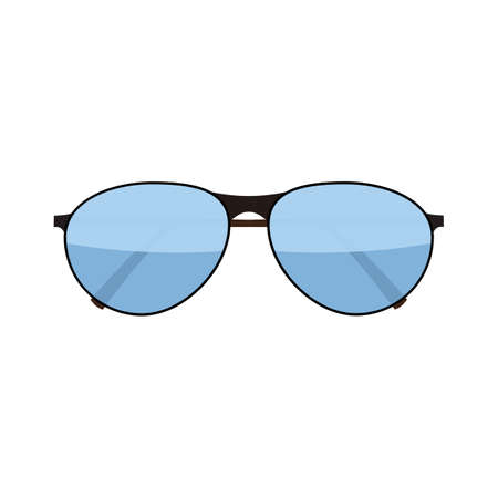 fashion glasses: Vector flat fashion glasses isolated on white. Fashion Sunglasses. Hipster fashion glasses. Summer fashion glasses vector illustration.